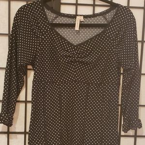 Susan Lawerence Ladies Polka Dot blk-wt   Sz M